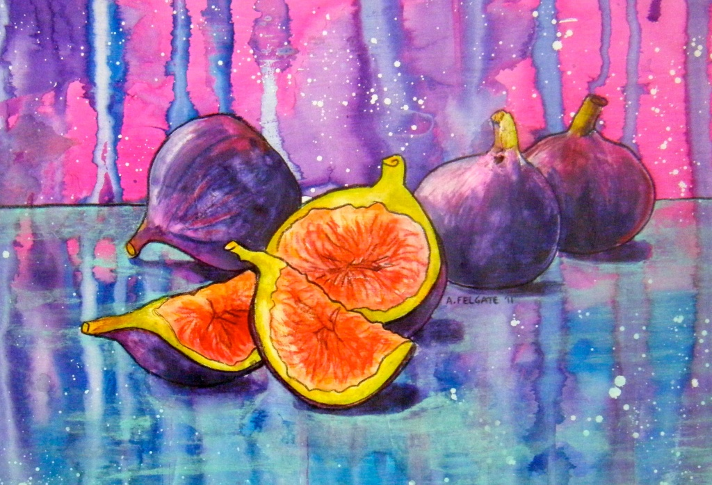 Figs in Pink and Blue